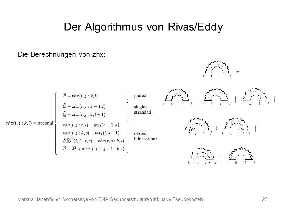 Der Algorithmus von Rivas/Eddy