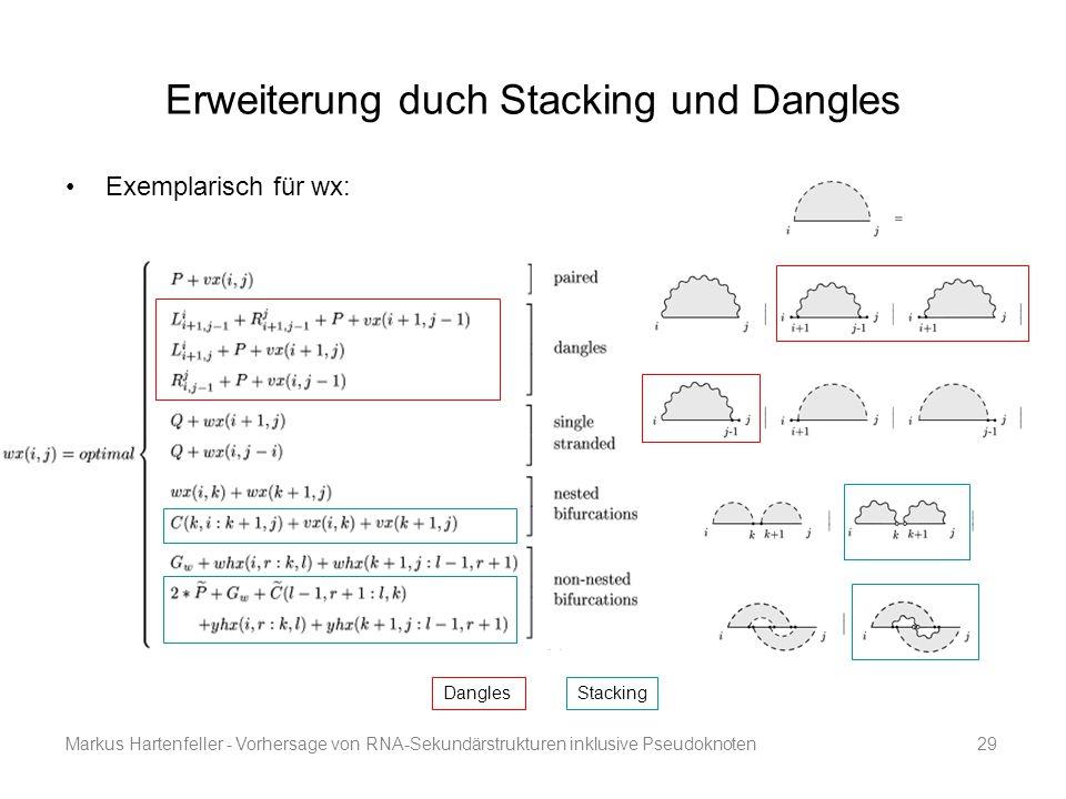 Erweiterung duch Stacking und Dangles