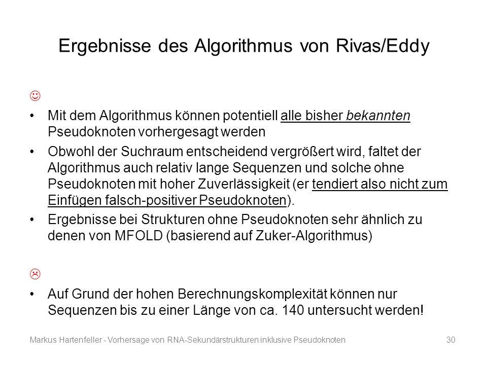 Ergebnisse des Algorithmus von Rivas/Eddy