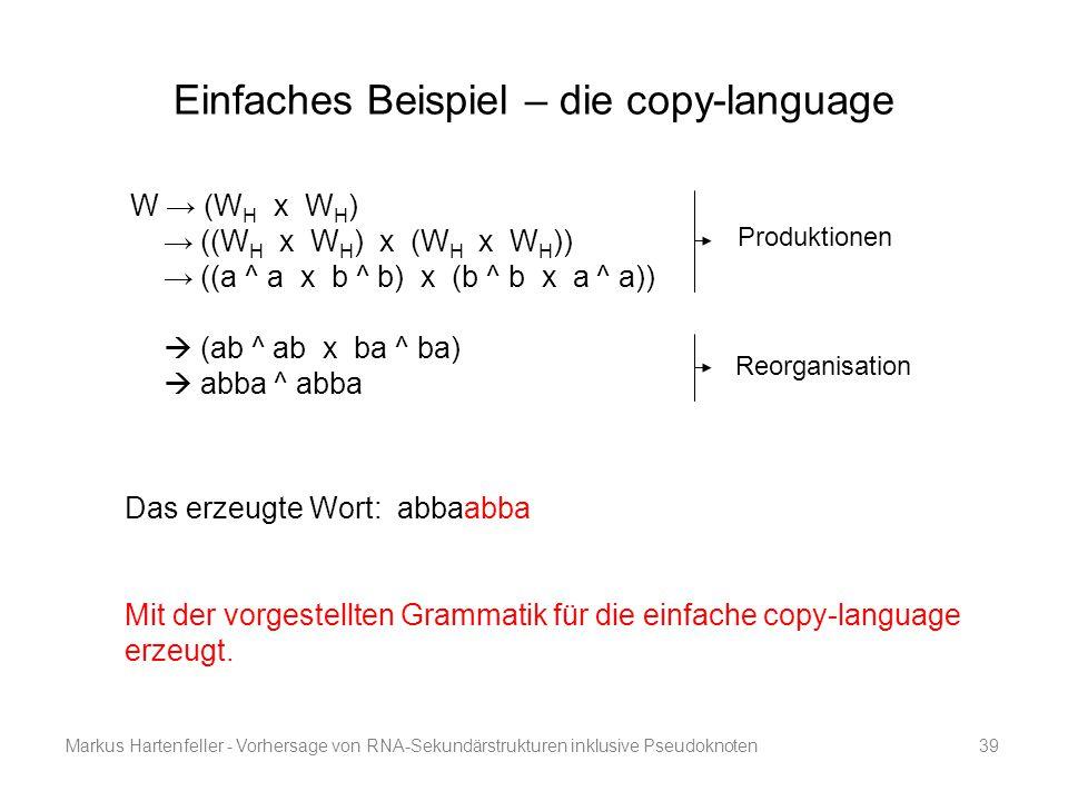 Einfaches Beispiel – die copy-language
