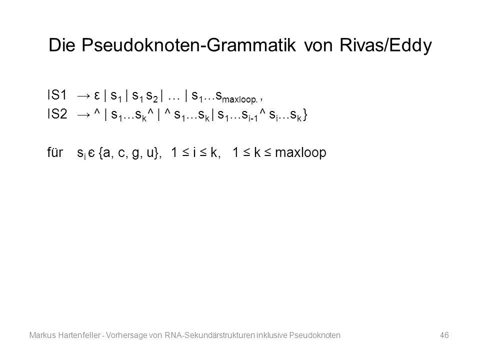 Die Pseudoknoten-Grammatik von Rivas/Eddy