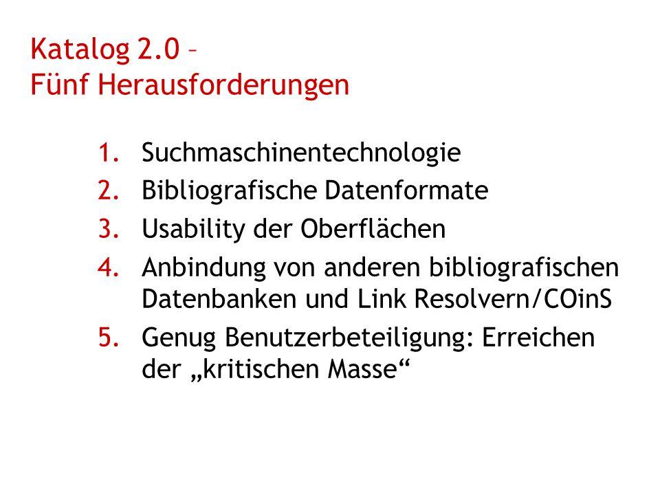 Katalog 2.0 – Fünf Herausforderungen