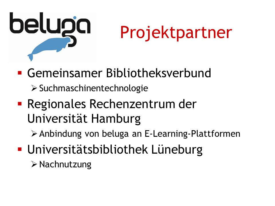 Projektpartner Gemeinsamer Bibliotheksverbund