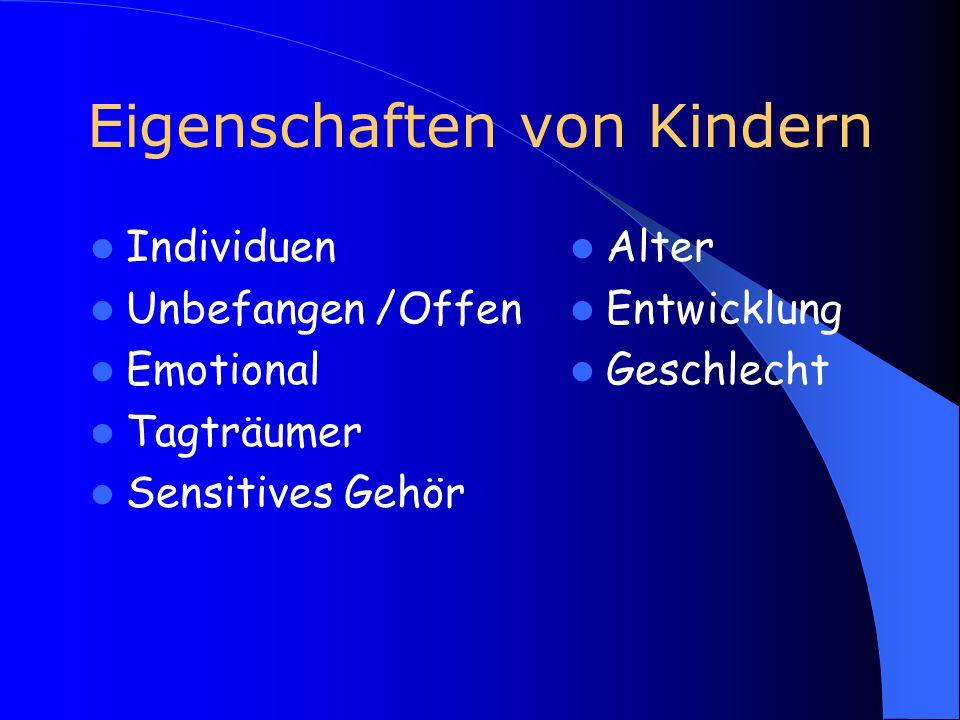 Eigenschaften von Kindern