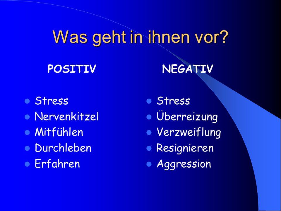 Was geht in ihnen vor POSITIV Stress Nervenkitzel Mitfühlen