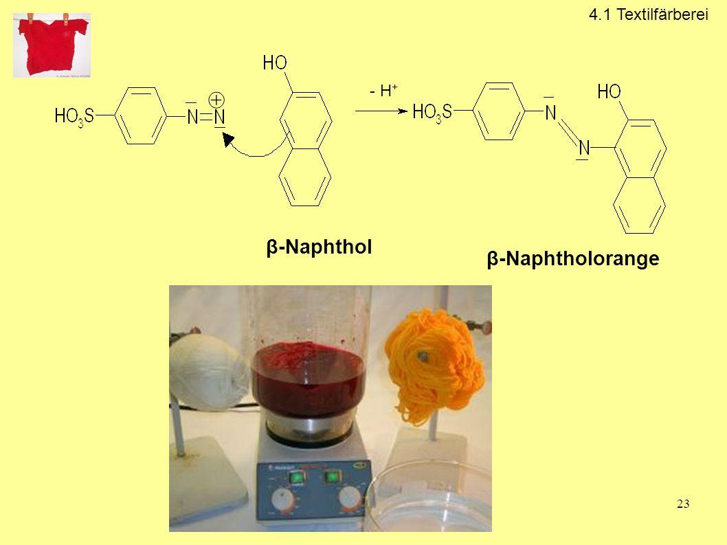4.1 Textilfärberei - H+ β-Naphthol β-Naphtholorange