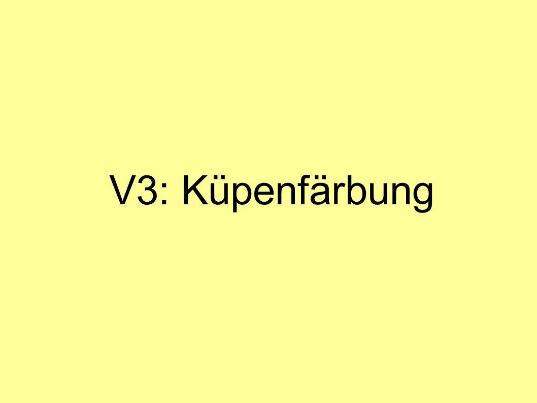 V3: Küpenfärbung