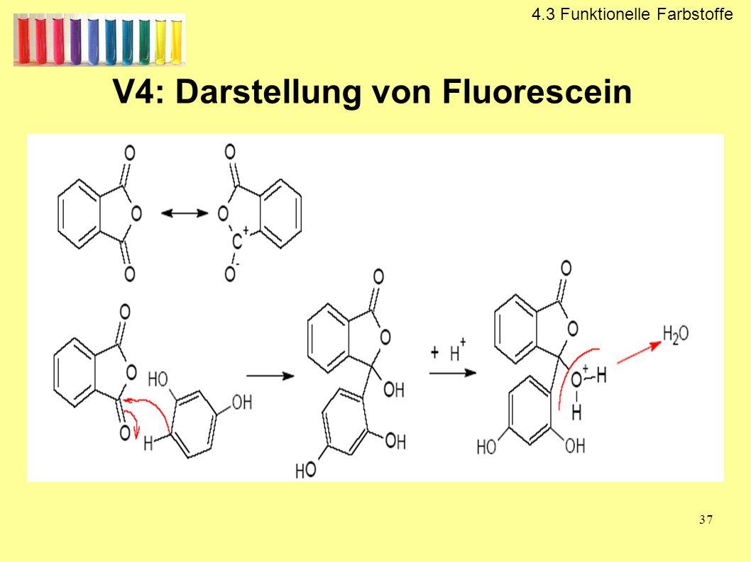 V4: Darstellung von Fluorescein