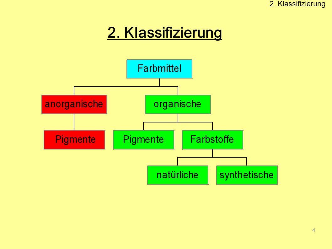 2. Klassifizierung 2. Klassifizierung