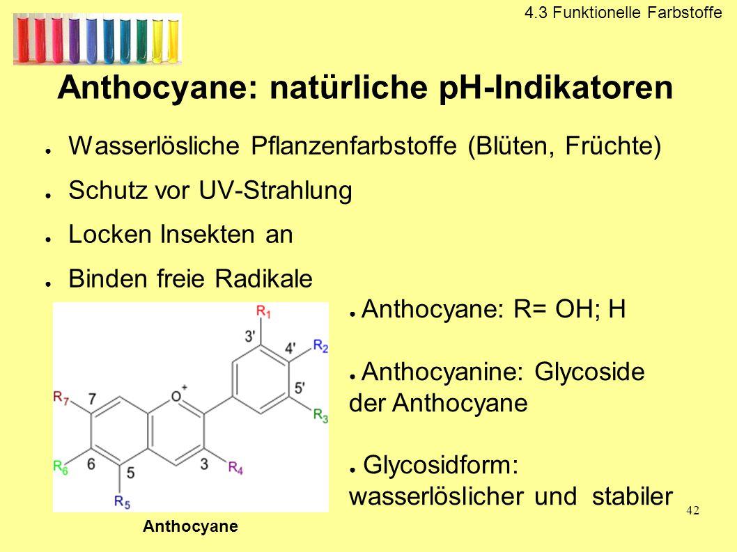 Anthocyane: natürliche pH-Indikatoren