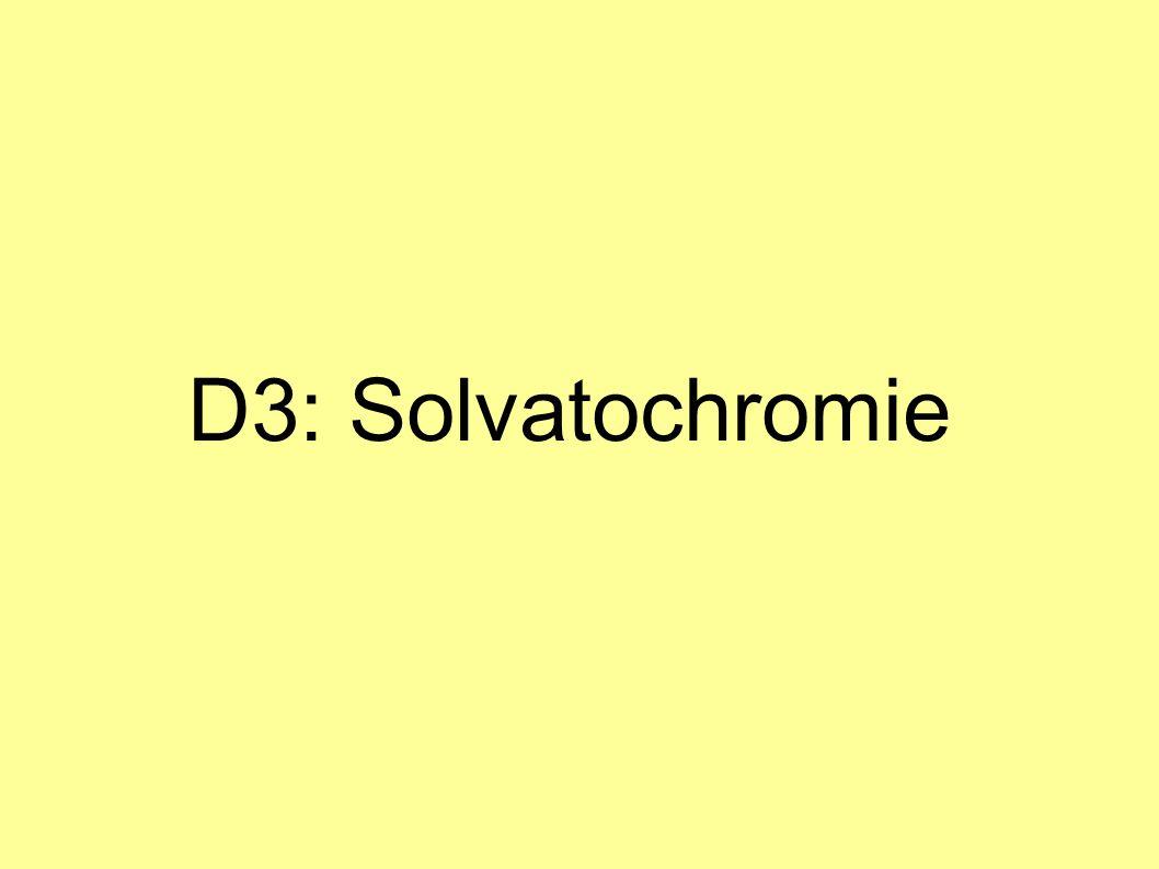 D3: Solvatochromie