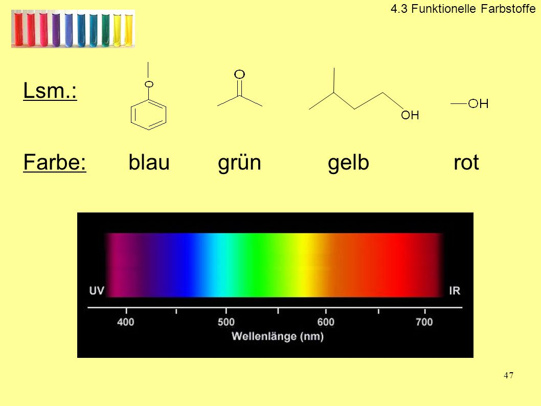 Farbe: blau grün gelb rot