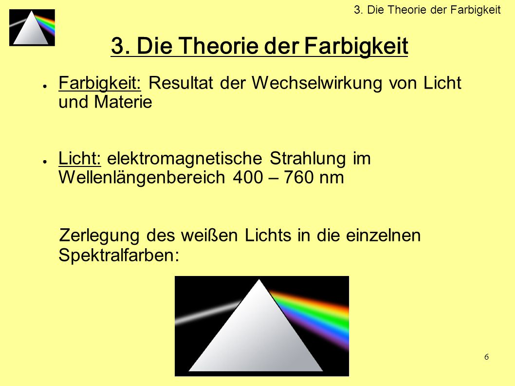 3. Die Theorie der Farbigkeit
