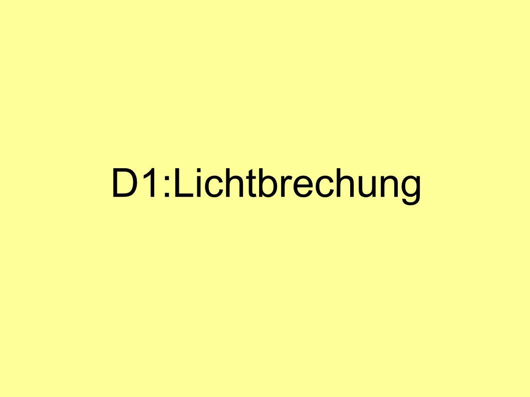 D1:Lichtbrechung