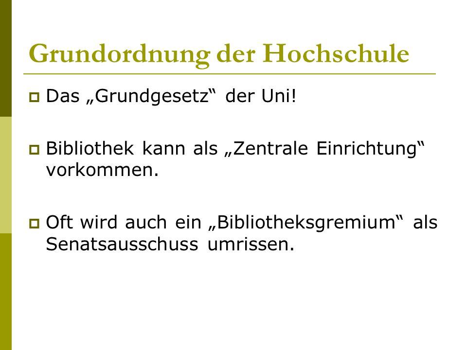 Grundordnung der Hochschule