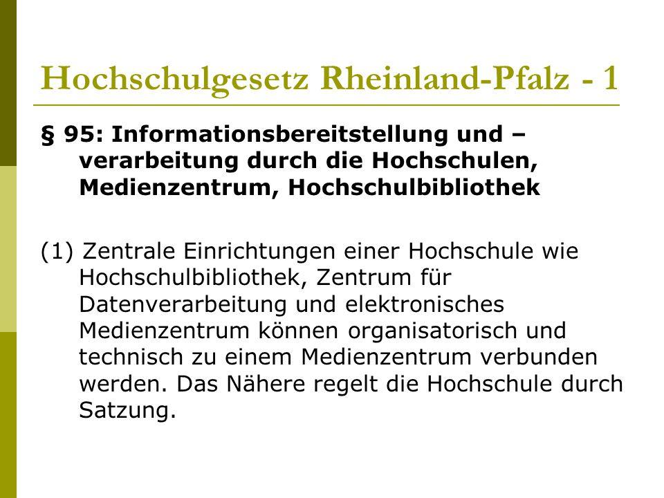 Hochschulgesetz Rheinland-Pfalz - 1