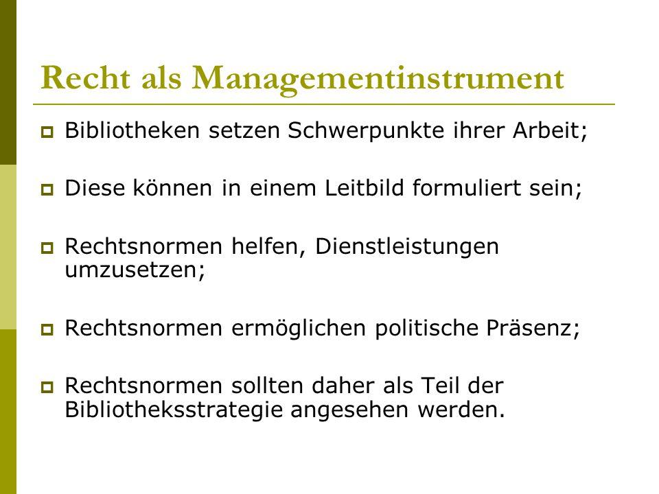 Recht als Managementinstrument