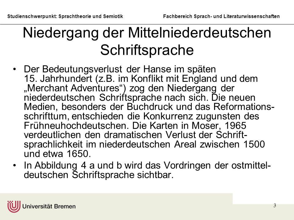 Niedergang der Mittelniederdeutschen Schriftsprache