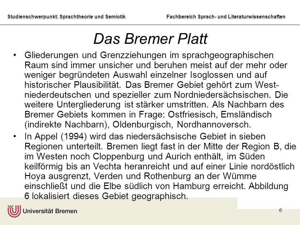 Das Bremer Platt