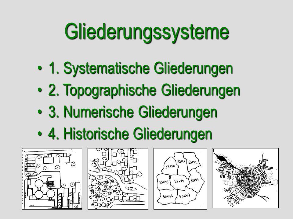 Gliederungssysteme 1. Systematische Gliederungen
