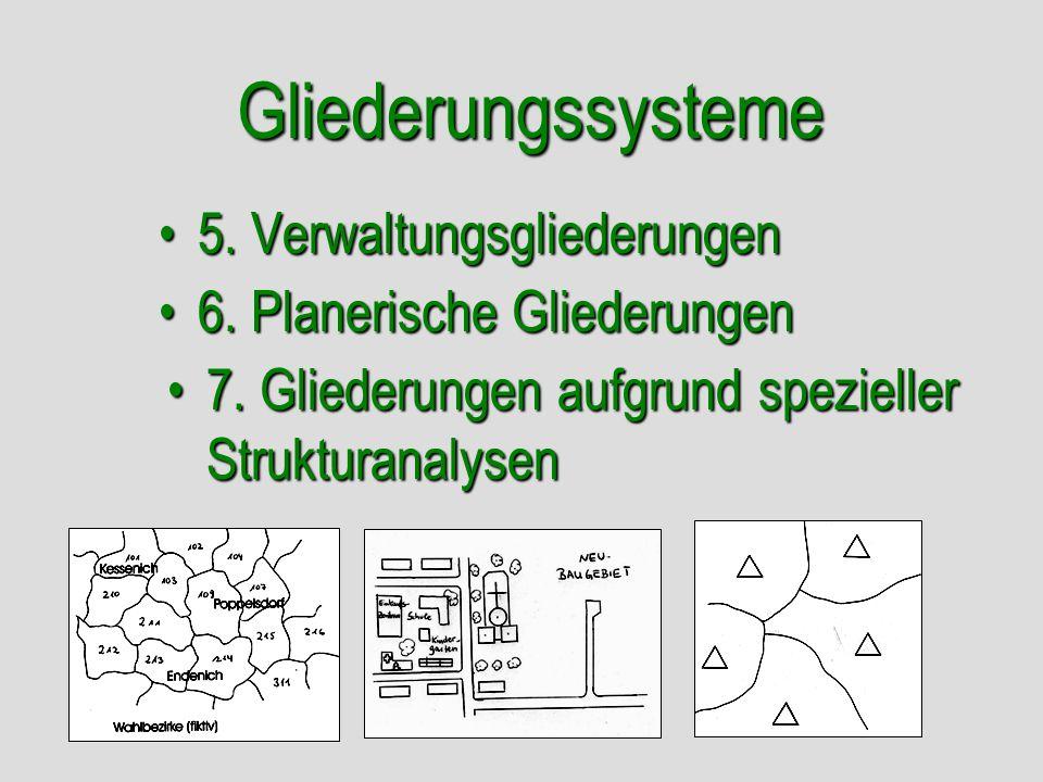 Gliederungssysteme 5. Verwaltungsgliederungen