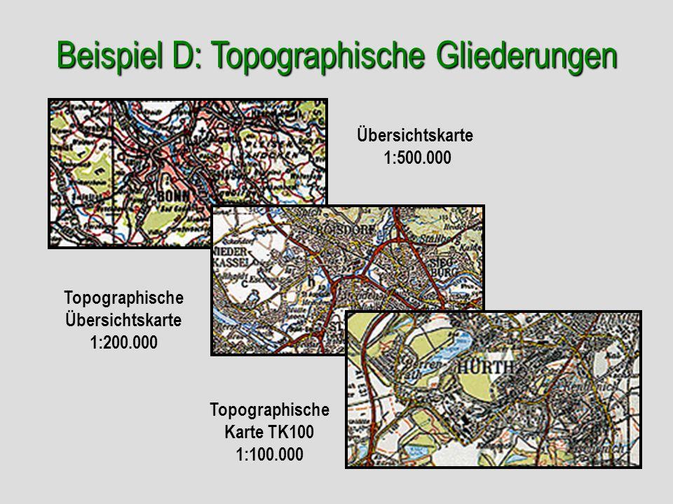 Beispiel D: Topographische Gliederungen