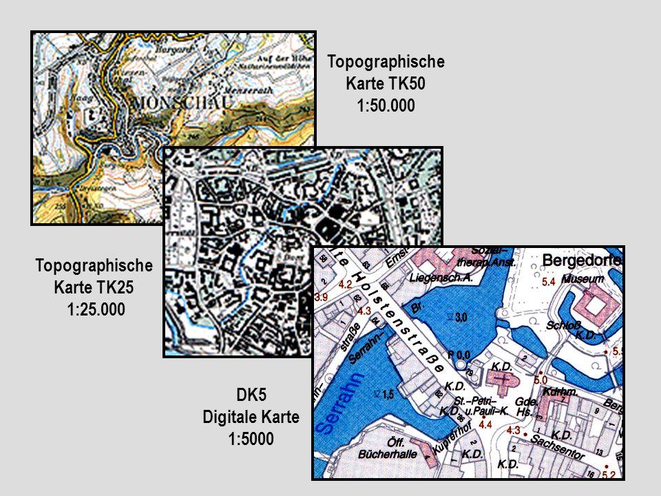 Topographische Karte TK50 1:50.000 Topographische Karte TK25 1:25.000