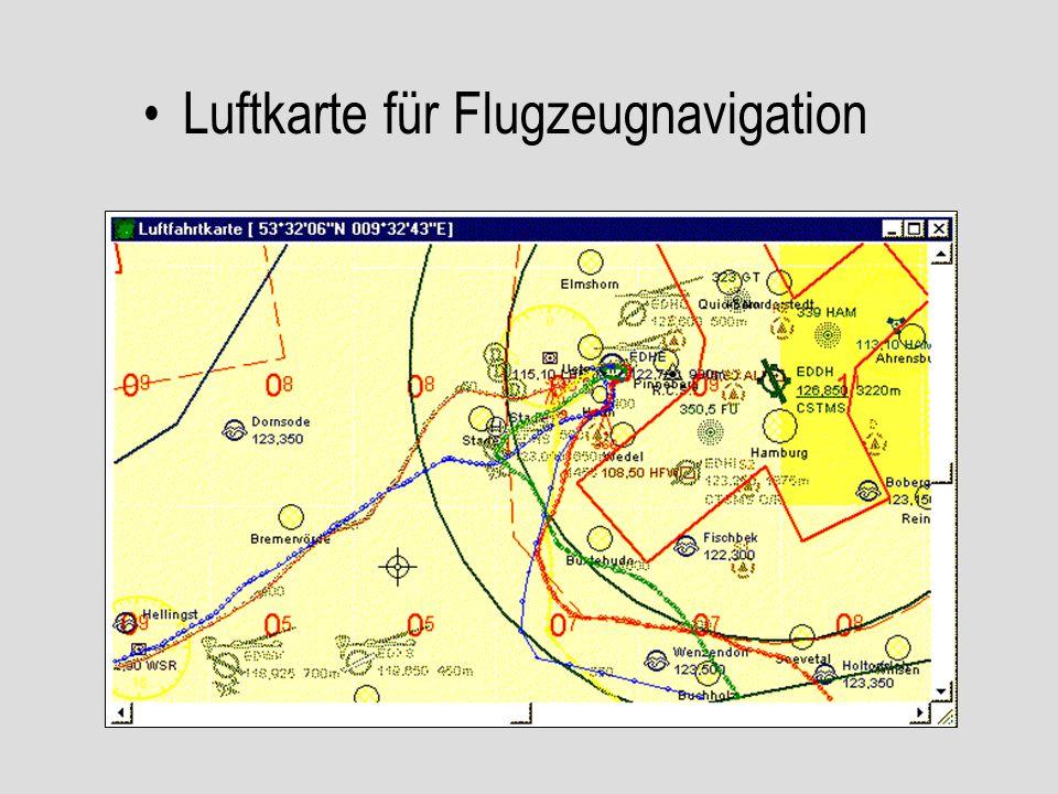 Luftkarte für Flugzeugnavigation