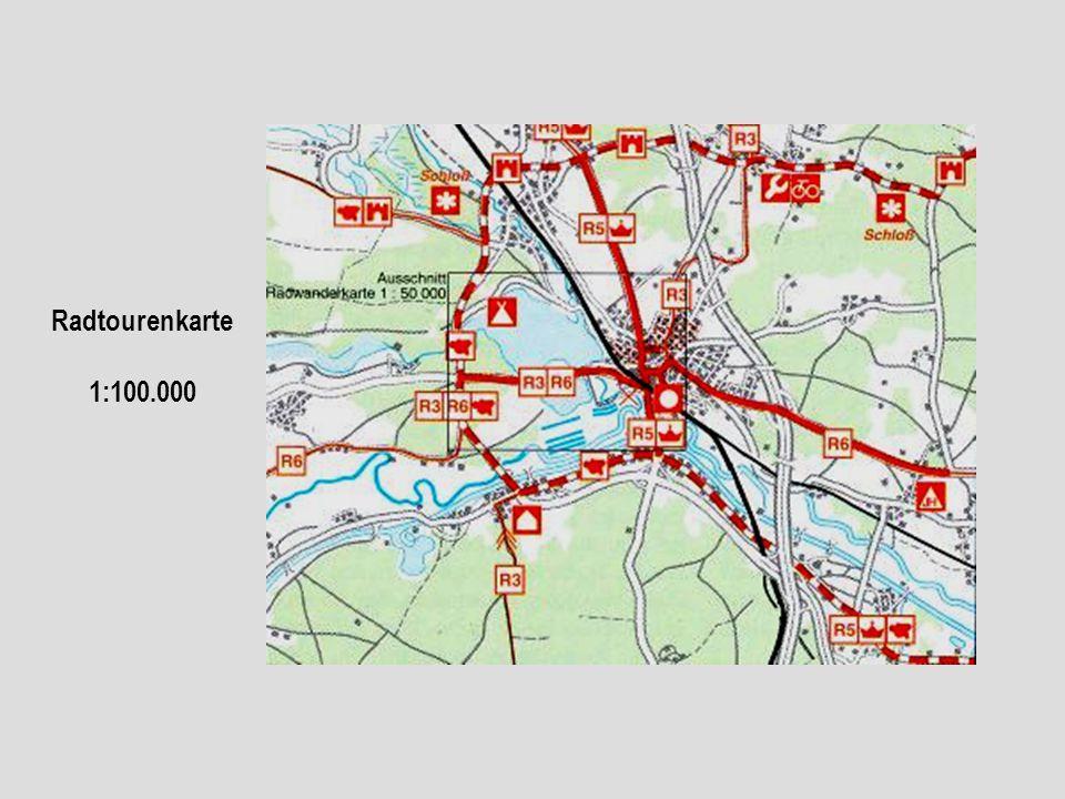 Radtourenkarte 1:100.000