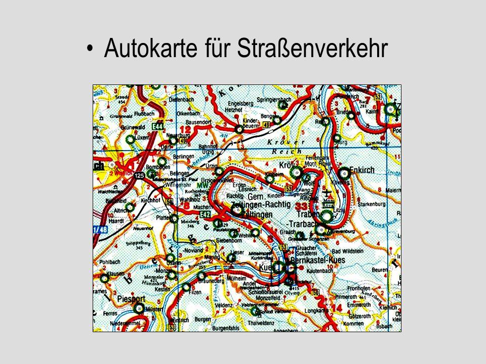 Autokarte für Straßenverkehr