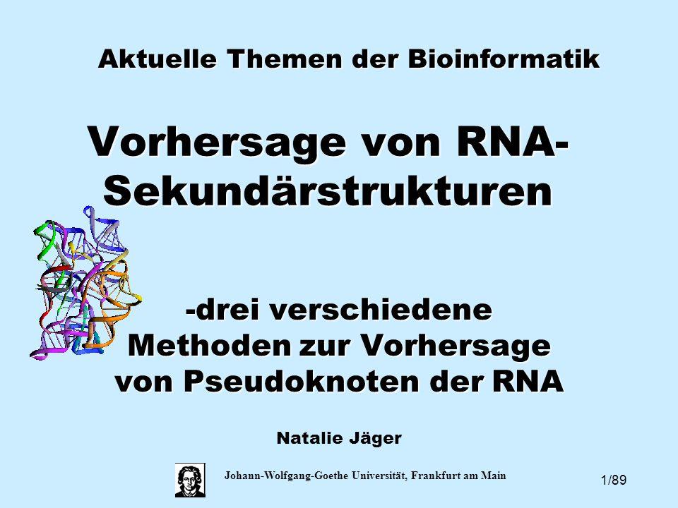 Vorhersage von RNA-Sekundärstrukturen
