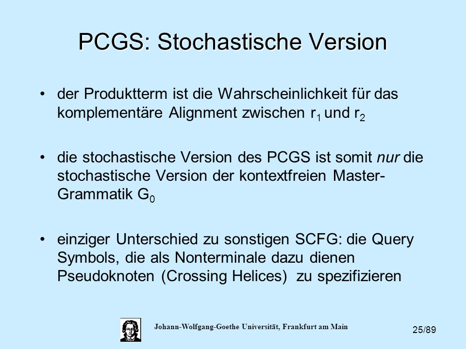 PCGS: Stochastische Version