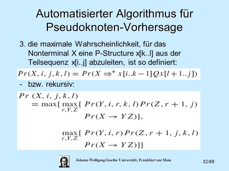Automatisierter Algorithmus für Pseudoknoten-Vorhersage