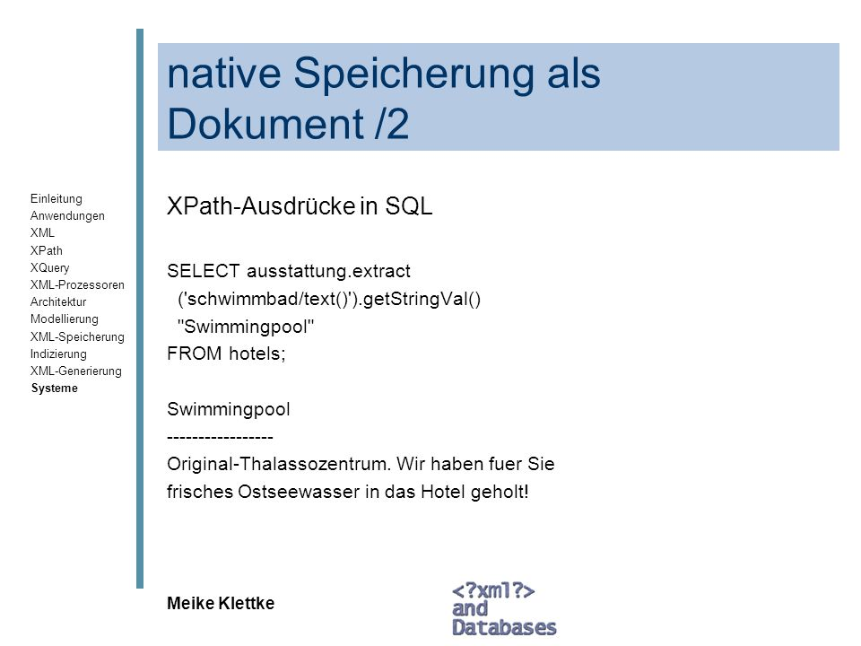 native Speicherung als Dokument /2