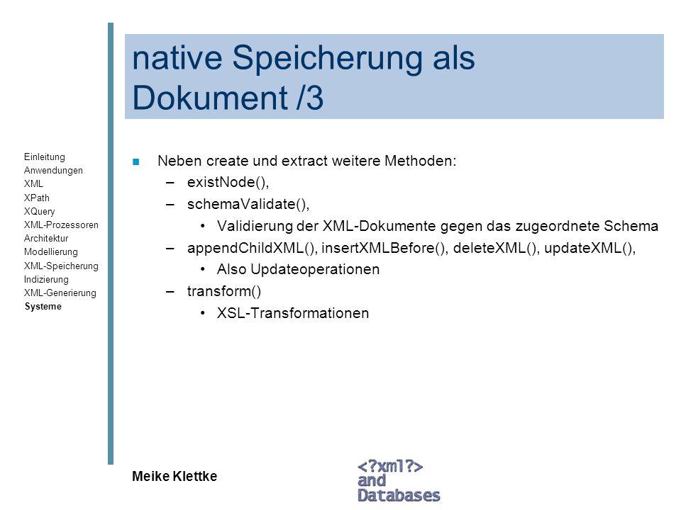 native Speicherung als Dokument /3