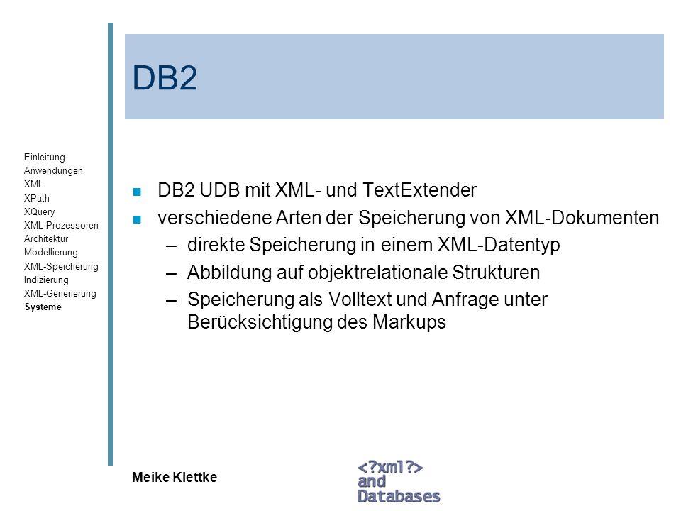 DB2 DB2 UDB mit XML- und TextExtender