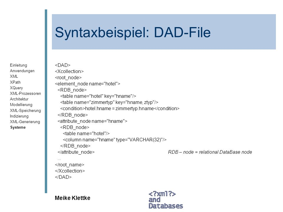 Syntaxbeispiel: DAD-File