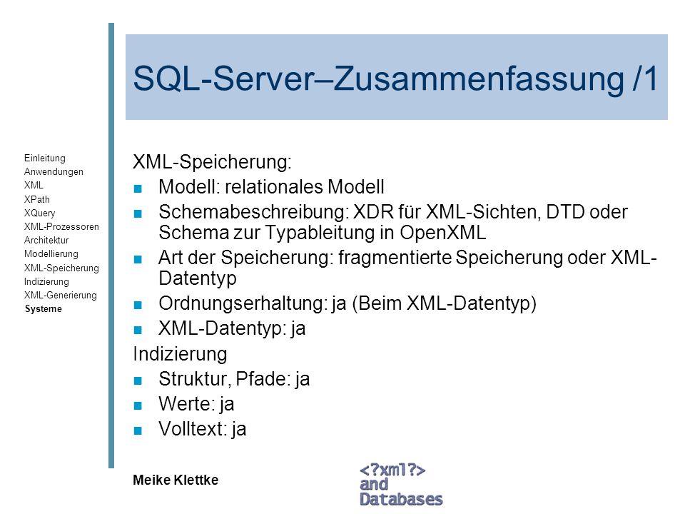 SQL-Server–Zusammenfassung /1