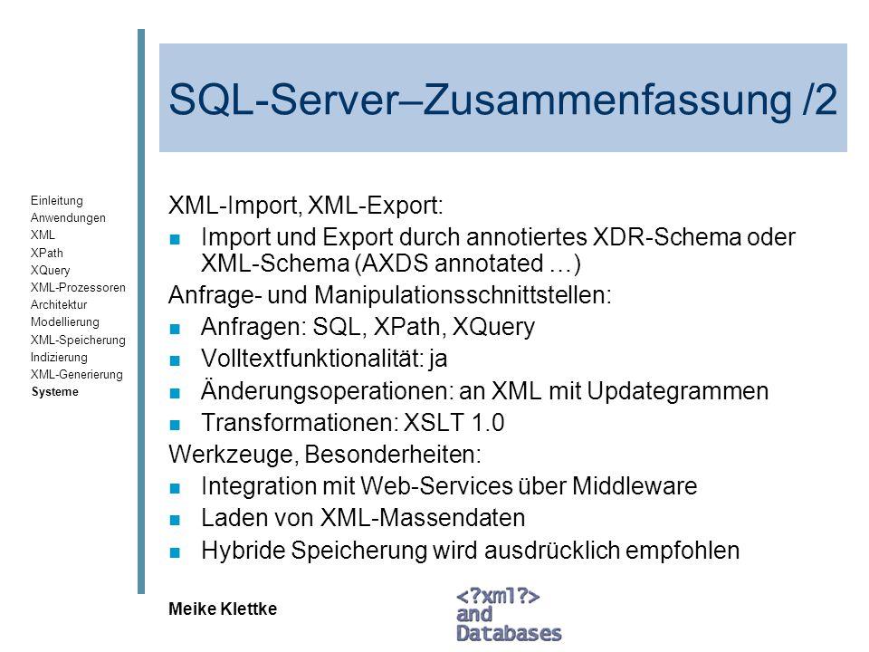 SQL-Server–Zusammenfassung /2