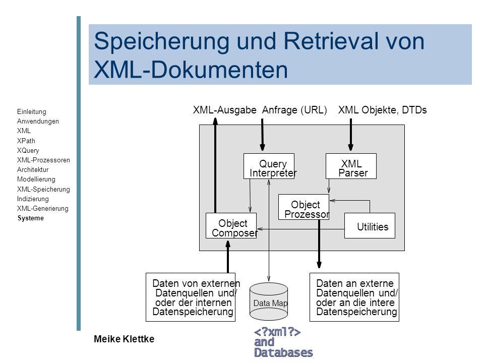 Speicherung und Retrieval von XML-Dokumenten