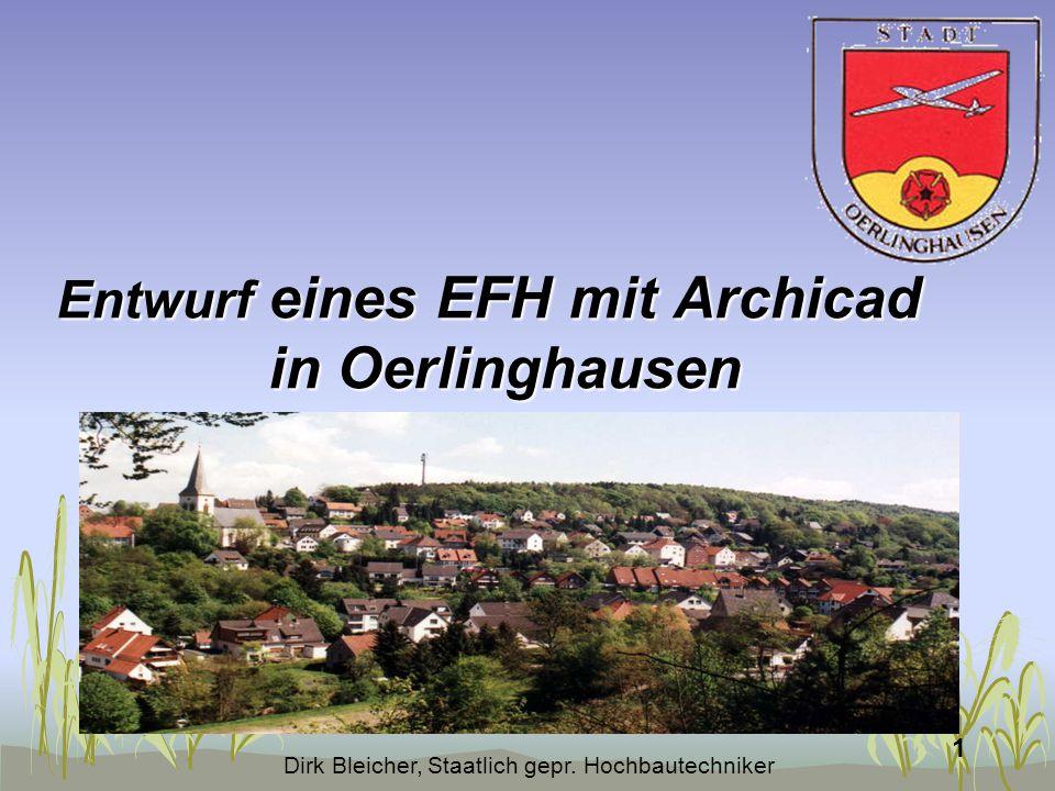 Entwurf eines EFH mit Archicad in Oerlinghausen