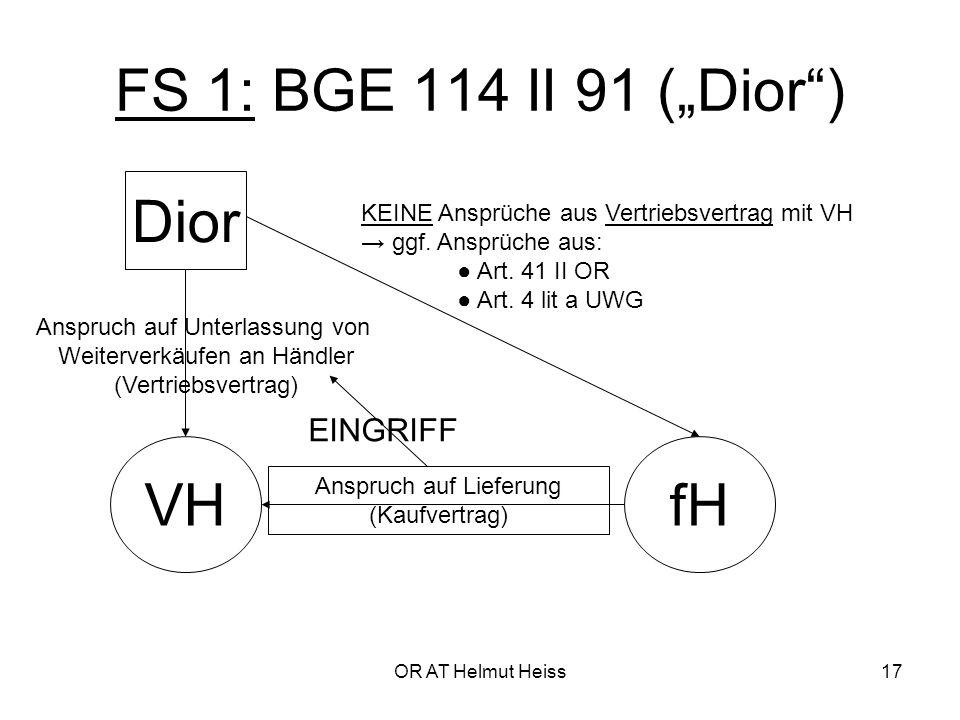 """FS 1: BGE 114 II 91 (""""Dior ) Dior VH fH EINGRIFF"""