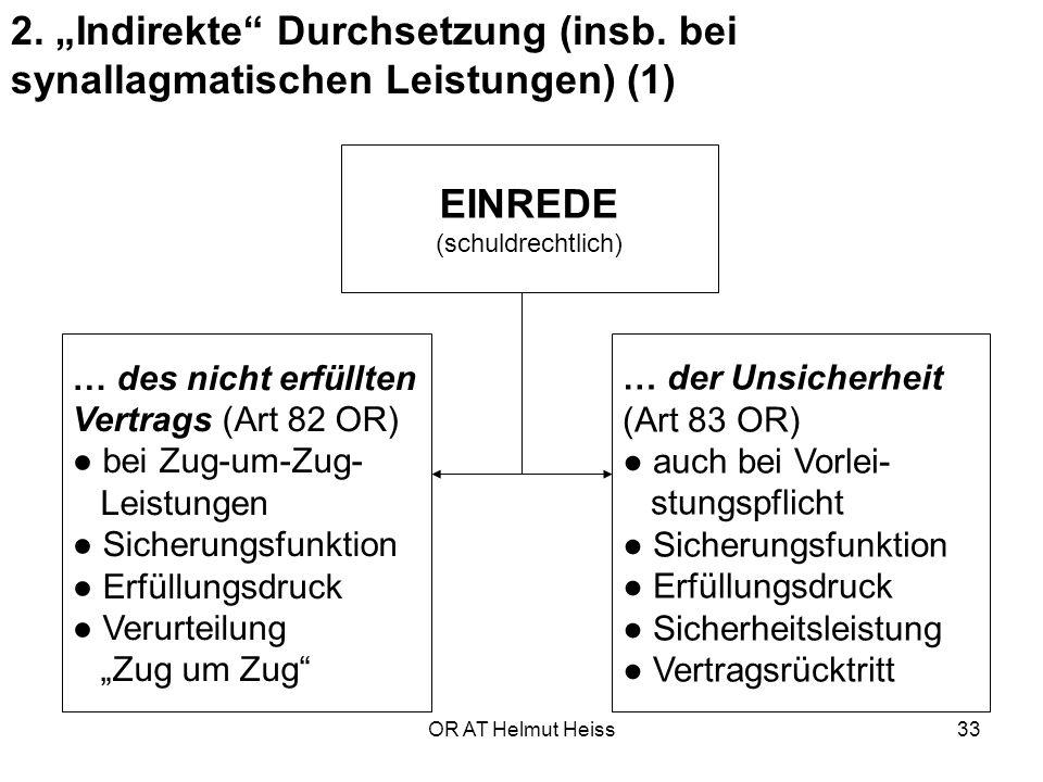 """2. """"Indirekte Durchsetzung (insb"""