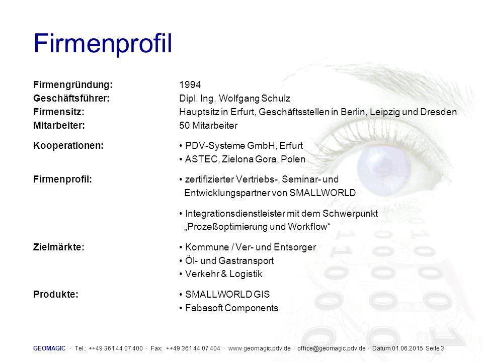 Firmenprofil Firmengründung: 1994