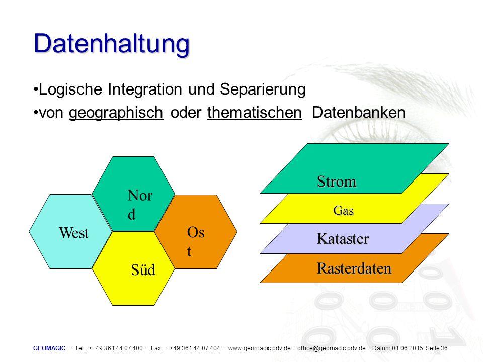 Datenhaltung Logische Integration und Separierung