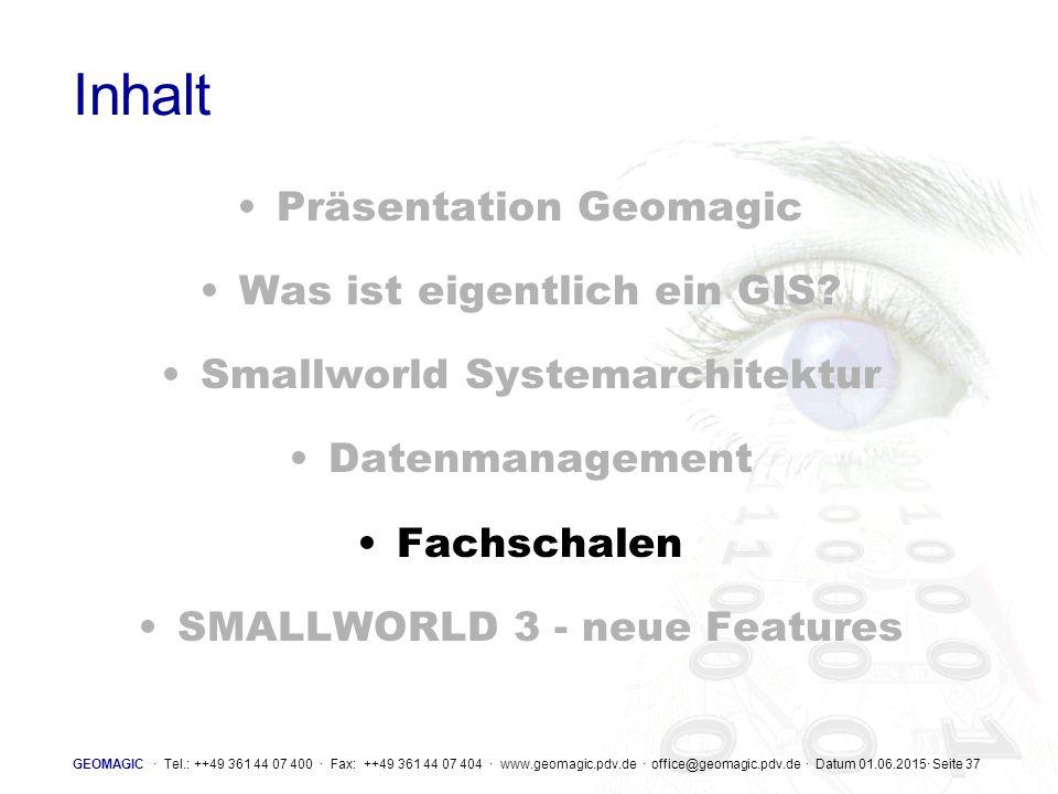 Inhalt Präsentation Geomagic Was ist eigentlich ein GIS