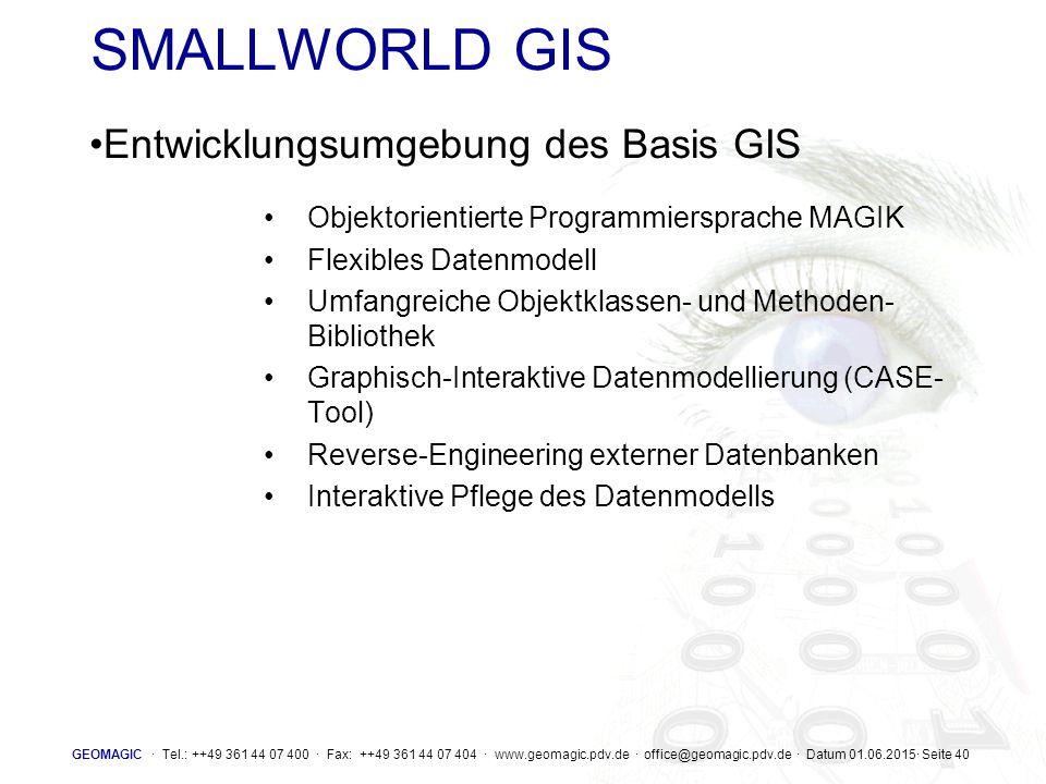 SMALLWORLD GIS Entwicklungsumgebung des Basis GIS