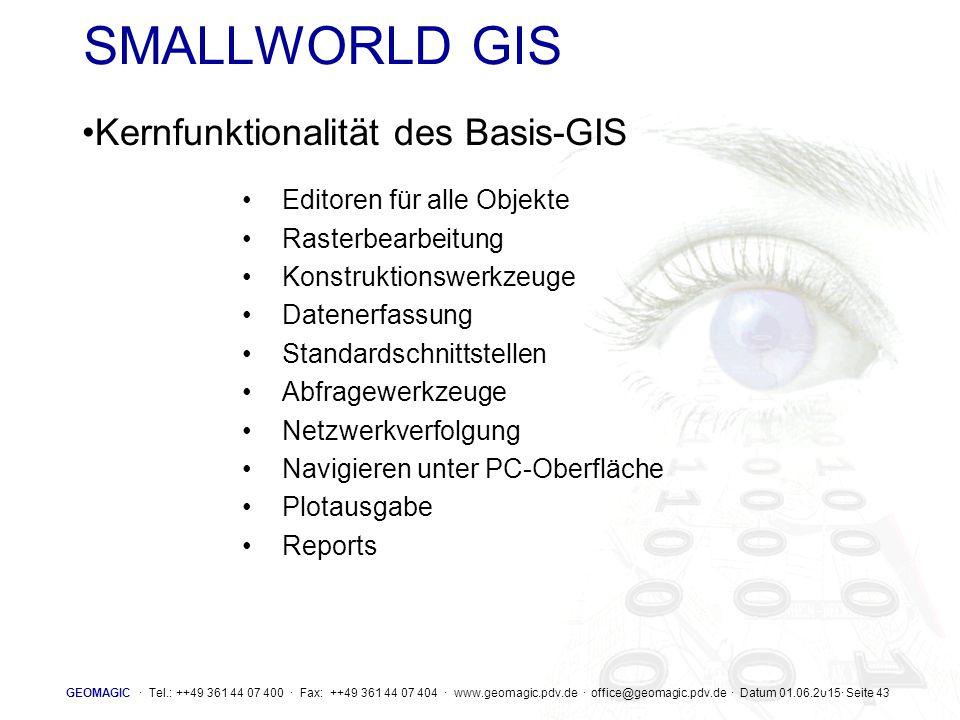 SMALLWORLD GIS Kernfunktionalität des Basis-GIS
