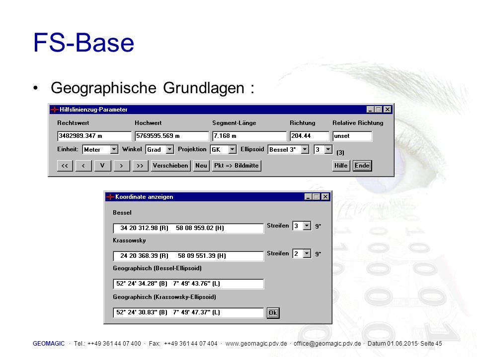 FS-Base Geographische Grundlagen :