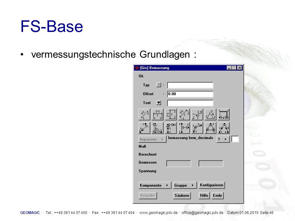 FS-Base vermessungstechnische Grundlagen :